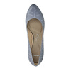 Ladies´ leather pumps with perforations pillow-padding, blue , 726-9642 - 19