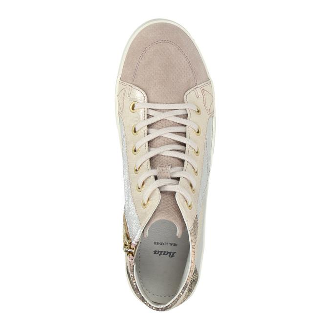 Ladies' leather tennis shoes bata, pink , 526-5614 - 19