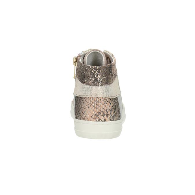 Ladies' leather tennis shoes bata, pink , 526-5614 - 17