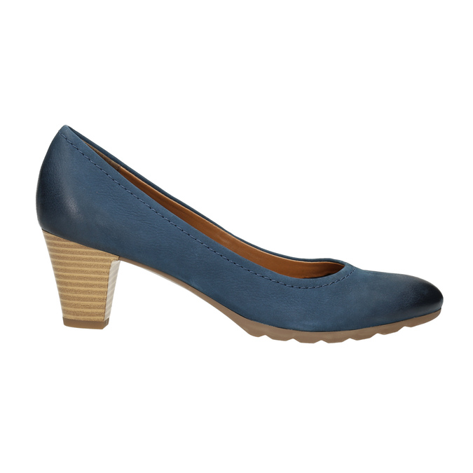 Ladies´ leather pumps bata, blue , 626-9639 - 15