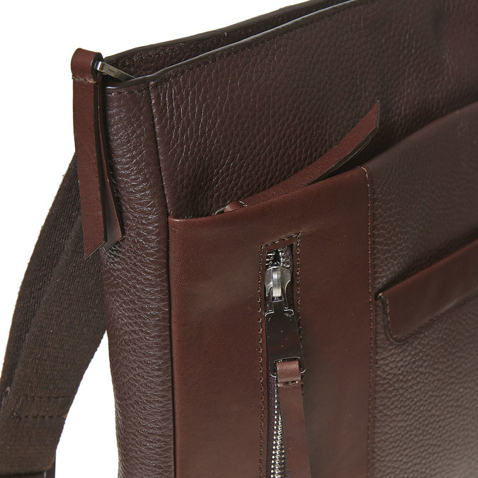 Men's leather crossbody bag bata, brown , 964-4230 - 17
