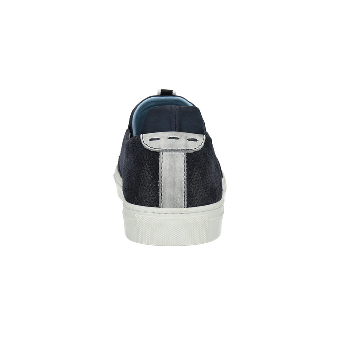 Men´s leather Slip-ons bata, blue , 833-9600 - 17