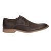 Brown leather shoes with distinctive stitching bata, brown , 826-4815 - 15