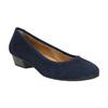 Leather pumps width H bata, blue , 623-9601 - 13