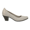 Leather pumps width H bata, gray , 623-2602 - 15