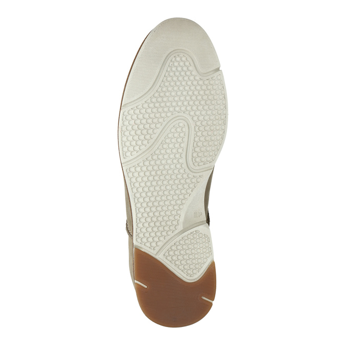 Casual leather shoes weinbrenner, beige , 846-8630 - 26