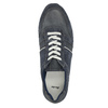 Men's leather sneakers bata, blue , 843-9624 - 19