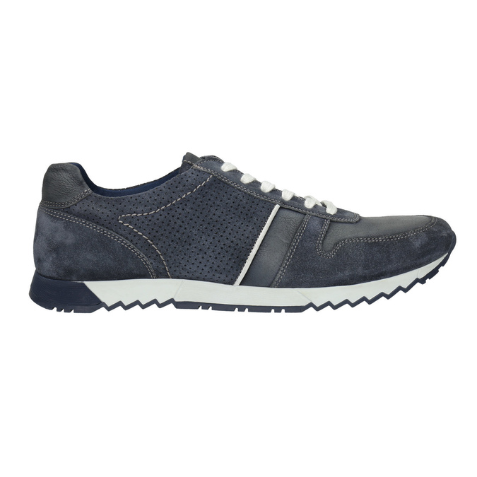 Men's leather sneakers bata, blue , 843-9624 - 15
