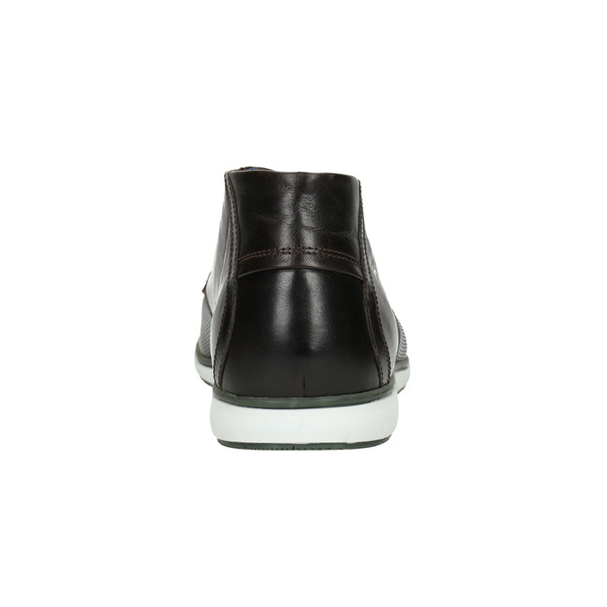 Leather ankle boots with a casual sole bata, black , 826-4818 - 17