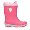 Girls' wellington boots with distinctive sole mini-b, pink , 392-5111 - 15