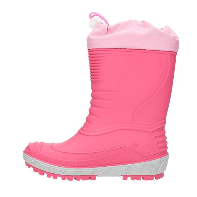 Girls' wellington boots with distinctive sole mini-b, pink , 392-5111 - 19