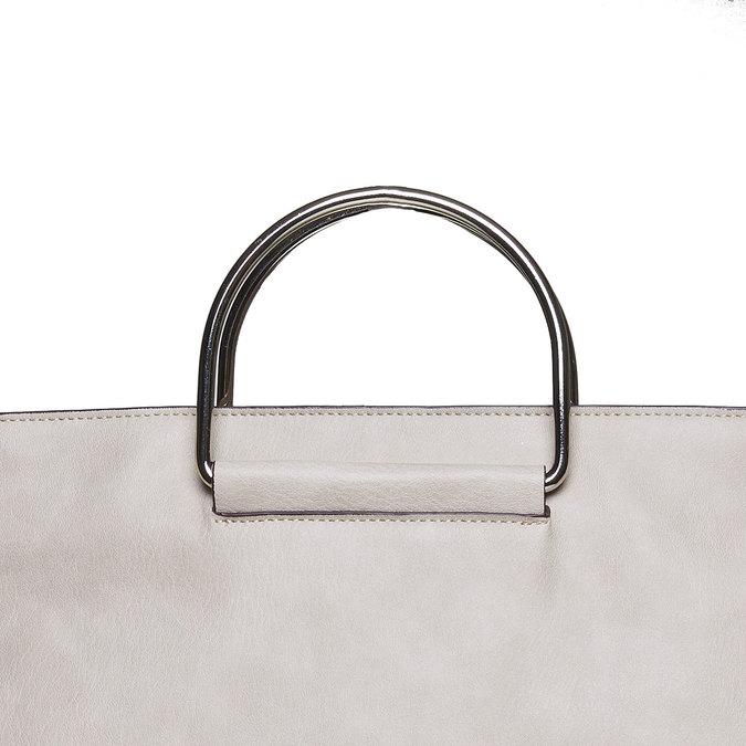 Ladies' cream handbag bata, gray , 961-8327 - 17