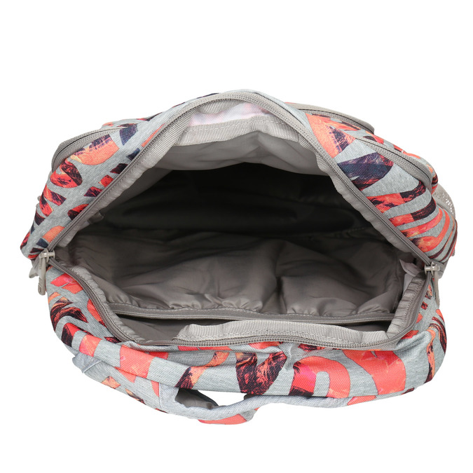 Backpack with coloured pattern roxy, gray , 969-2071 - 15