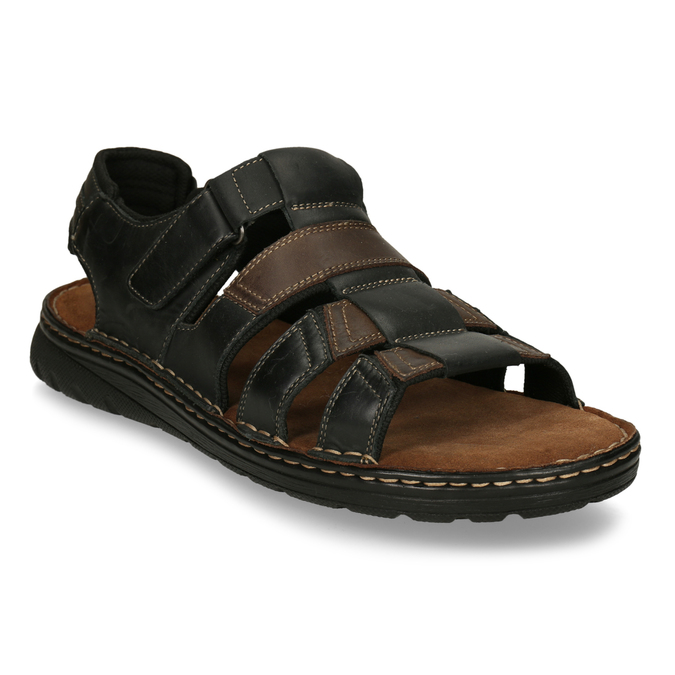 Men's leather sandals, brown , 866-4610 - 13