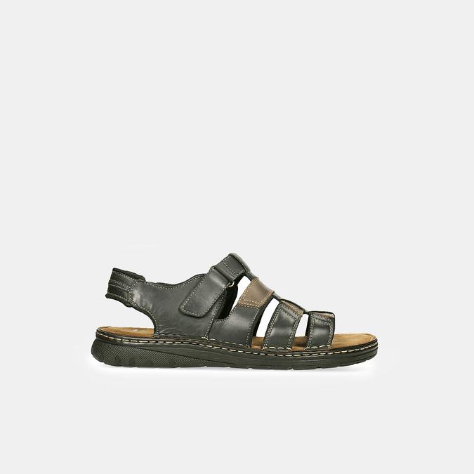Men's leather sandals bata, brown , 866-4610 - 13