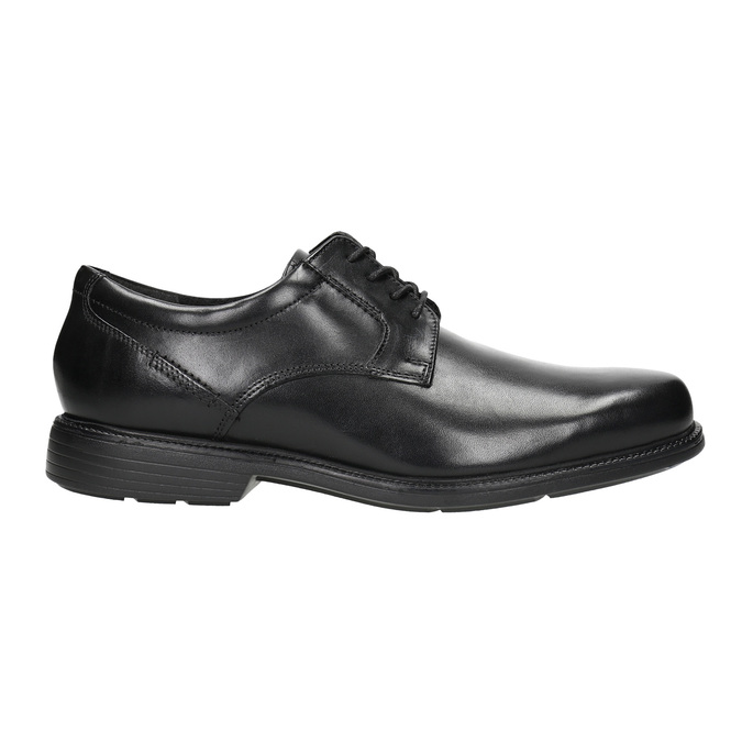 Black leather shoes rockport, black , 824-6127 - 15