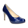 Patent leather pumps hogl, blue , 728-9400 - 13