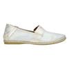 Ladies' leather slip-ons bata, white , 516-1604 - 15