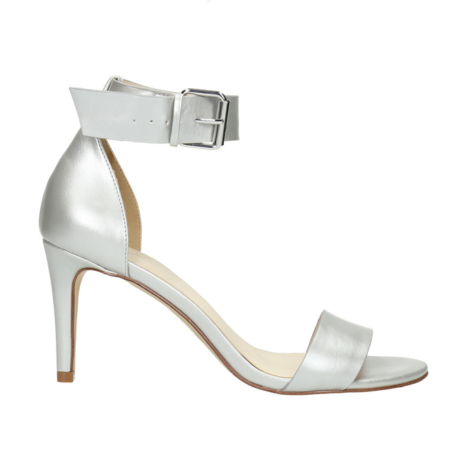 Silver heeled sandals insolia, silver , 761-1608 - 15