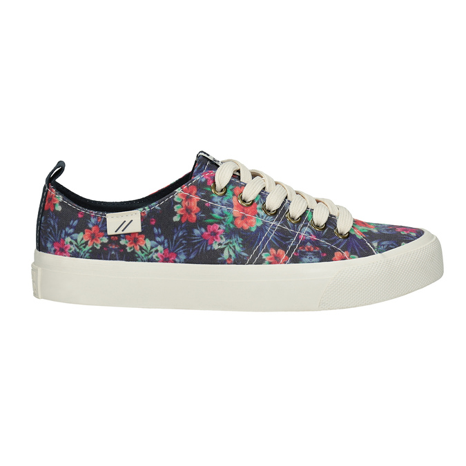 Ladies' sneakers with floral pattern north-star, black , 589-6446 - 15