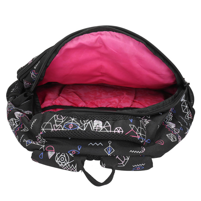 School backpack with print bagmaster, black , 969-6650 - 15