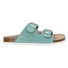 Blue leather sandals de-fonseca, turquoise, 573-7621 - 15