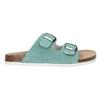 Blue leather sandals de-fonseca, green, 573-7621 - 15