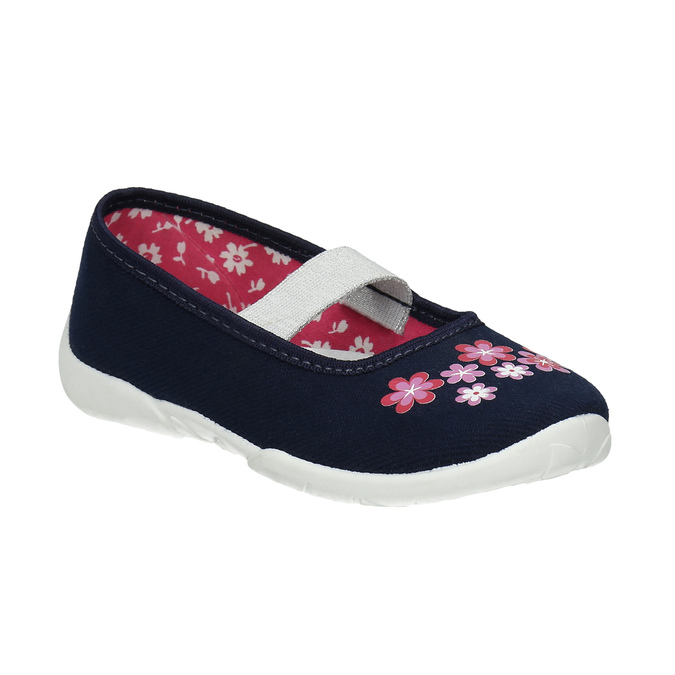 House shoes with flowers mini-b, blue , 379-9215 - 13