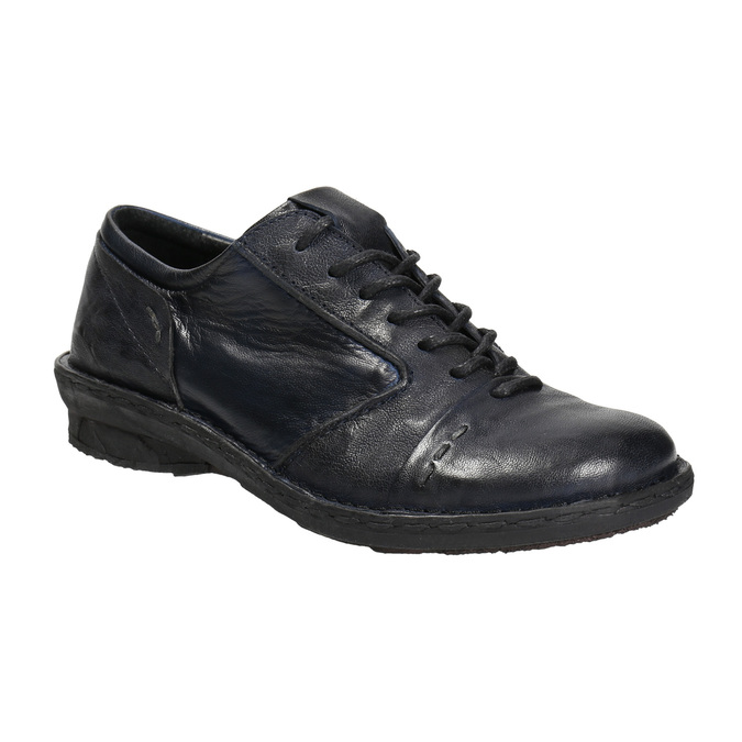 Ladies' leather oxford shoes bata, blue , 526-9640 - 13