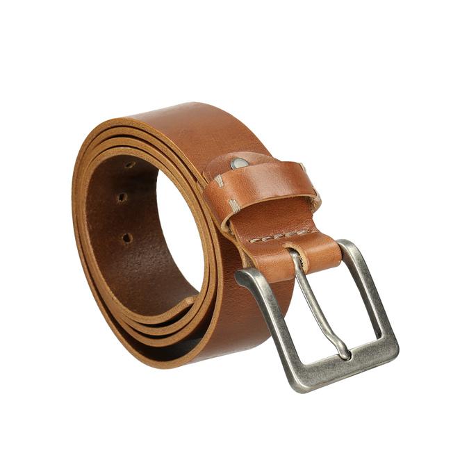 Men's leather belt bata, brown , 954-3191 - 13