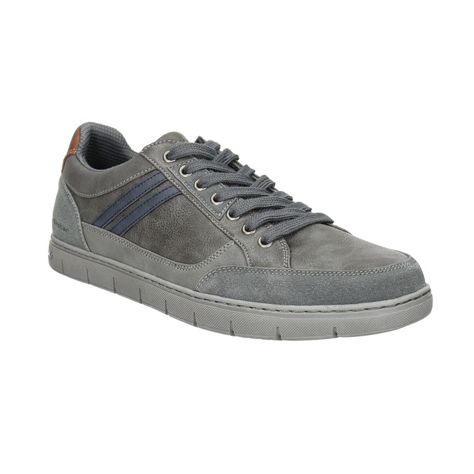 Men's grey sneakers north-star, gray , 841-2607 - 13