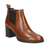Leather Ankle Boots with Heel bata, brown , 694-4641 - 13