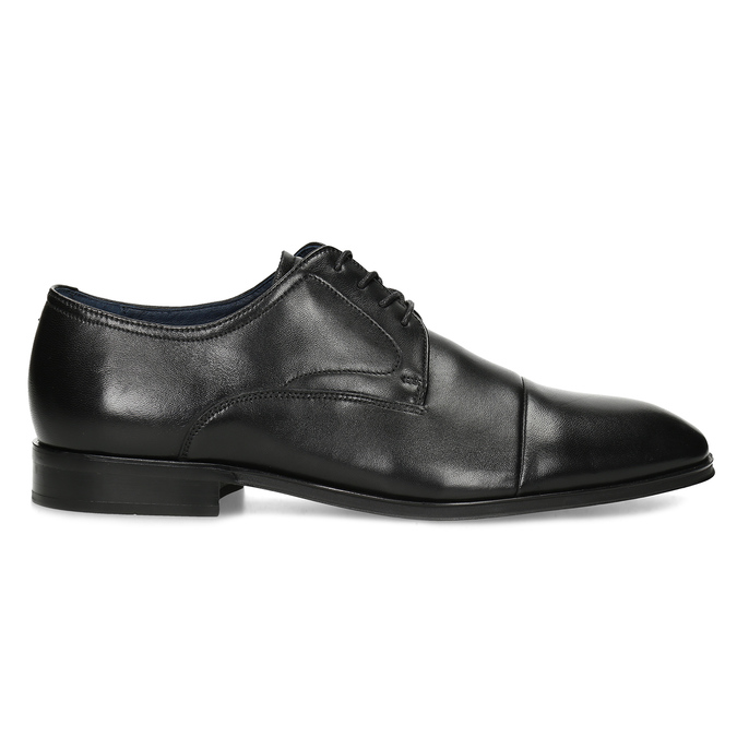 Men's leather Derby shoes bata, black , 824-6406 - 19