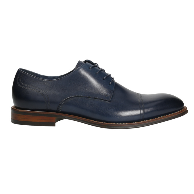 Casual leather shoes blue bata, blue , 826-9681 - 15