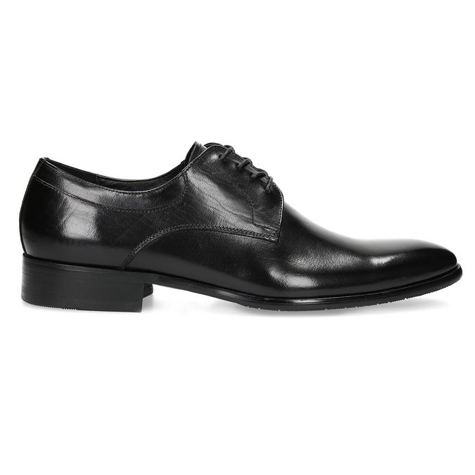 Men's leather Derby shoes bata, black , 824-6233 - 19
