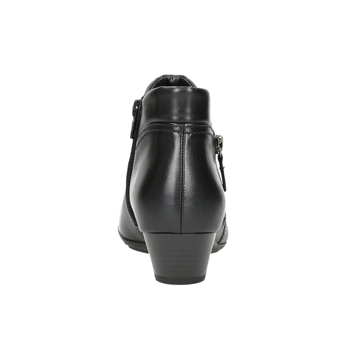 Leather Ankle Boots with Zip gabor, black , 614-6122 - 16