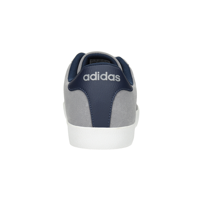 Grey Leather Sneakers adidas, gray , 803-7197 - 16