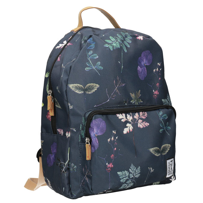 Blue Backpack with Print, blue , 969-9085 - 13