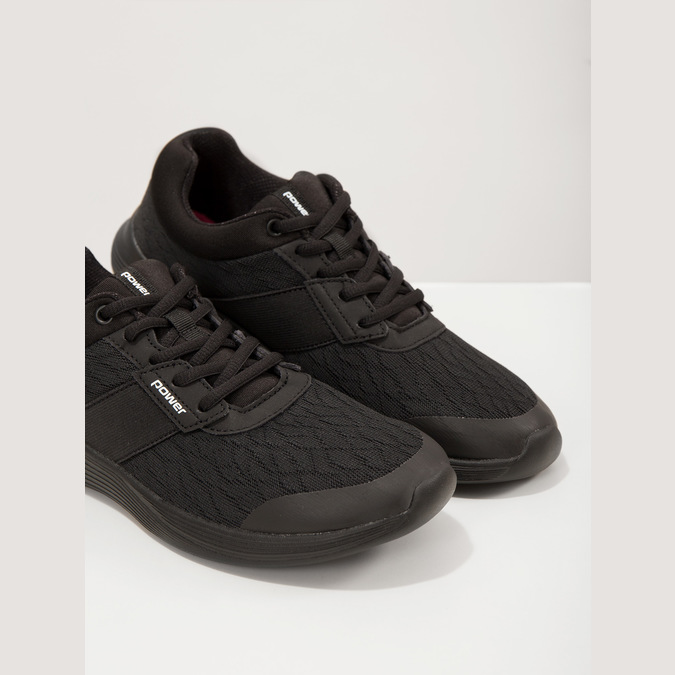 Ladies' Black Sneakers power, black , 509-6203 - 18