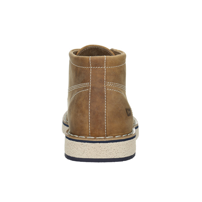 Leather ankle boots on a distinctive outsole weinbrenner, brown , 846-4658 - 16