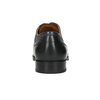 Leather shoes with blue stitching bata, black , 826-6915 - 17