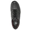 Men's leather sneakers bata, black , 824-6921 - 26