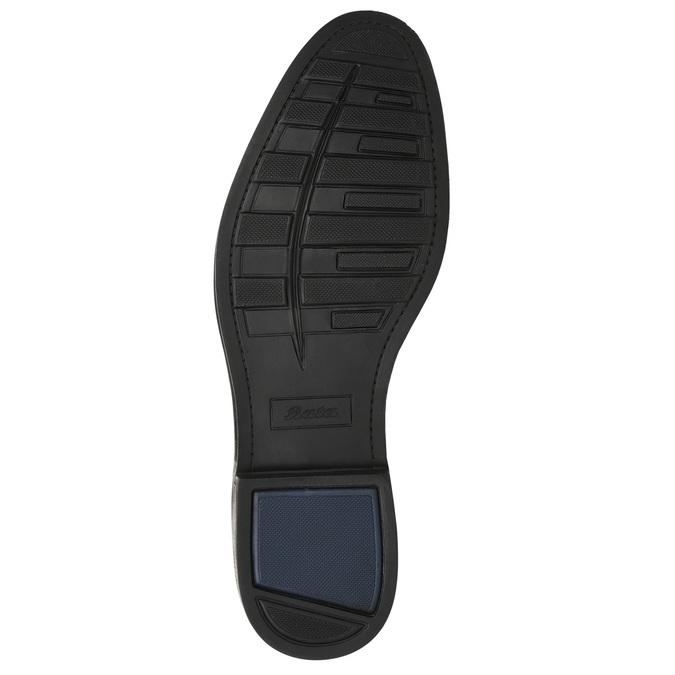 Men's leather Ombré boots bata, brown , 826-3913 - 19
