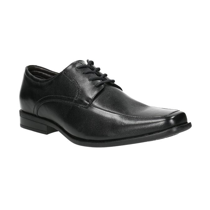 Black leather shoes bata, black , 824-6600 - 13