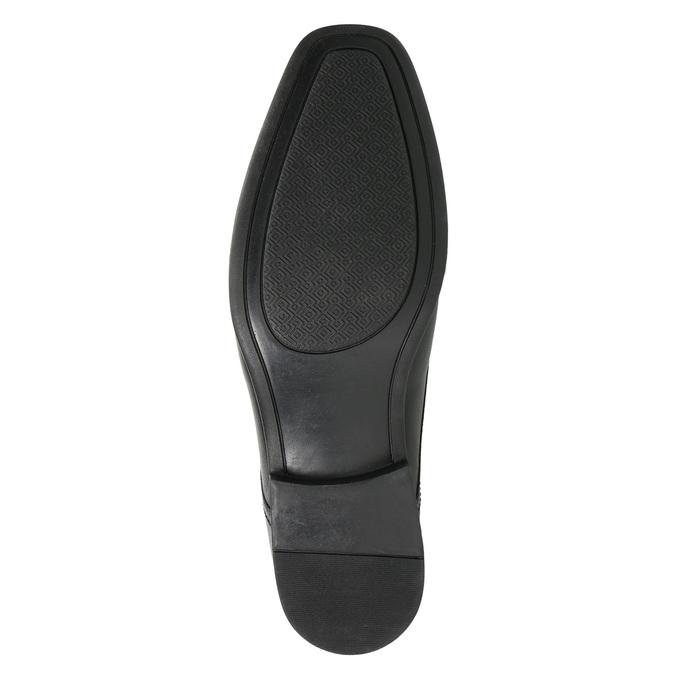 Black leather shoes bata, black , 824-6600 - 19