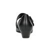 Leather Mary Jane Flats gabor, black , 514-6118 - 15