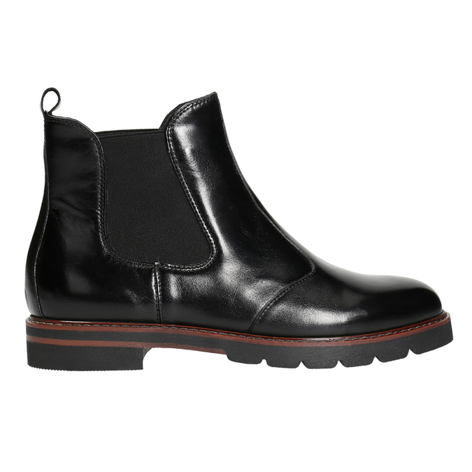 Ladies' leather Chelsea boots bata, black , 596-6657 - 15
