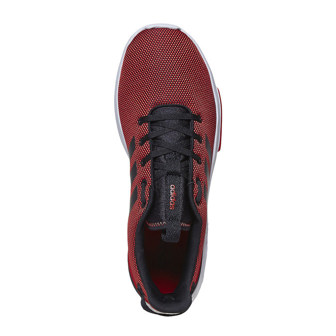 Men's red sneakers adidas, red , 809-5201 - 19