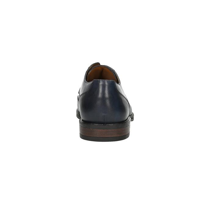 Men's blue leather shoes bata, blue , 826-9914 - 17