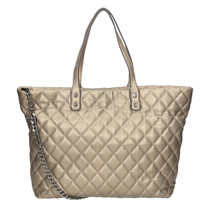 Quilted Ladies' Handbag bata, brown , 961-4139 - 16